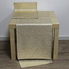 Tischläufer Läufer ROCKS 40x136cm gold Hossner (24,50 EUR / Stück)
