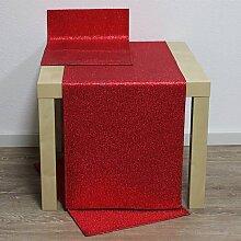 Tischläufer Läufer ROCKS 40x136cm rot Hossner WA (11,50 EUR / Stück)