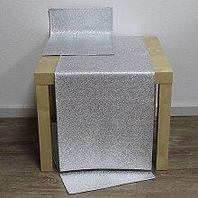 Tischläufer Läufer ROCKS 40x136cm silber Hossner (24,50 EUR / Stück)