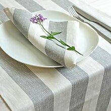 Tischläufer - Läufer - Tischband - 100% Leinen - 50 x 180 cm - Farbe Grau/ Varvara Home 1615