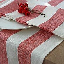 Tischläufer - Läufer - Tischband - 100% Leinen - Farbe Rot - 45 x 150 cm/Varvara Home 1419