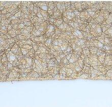 Tischläufer Läufer Tischdecke TRENTO Netzoptik 45x140cm gold Hossner (15,95 EUR / Stück)