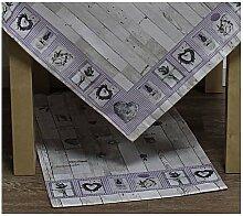 Tischläufer LAVANDA LAVENDEL 40x140cm weiß lila Hossner WA (9,50 EUR / Stück)