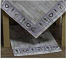 Tischläufer LAVANDA LAVENDEL 40x140cm weiß lila