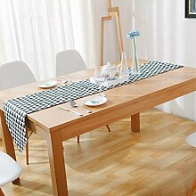 Tischläufer Leinen Baumwolle Tischläufer schwarz