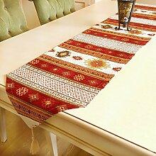 Tischläufer Luxus Anatolische Serie, Rot-Weiss, 175x37 cm