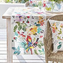 Tischläufer mit exotisch bunten Tropenmotiven