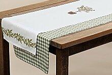 Tischläufer Mitteldecke Tischdecke Baumwolle Landhausstil Olive Stückpreis