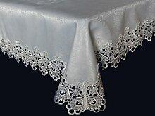 Tischläufer Mitteldecke Tischdecken Spitze Weiß