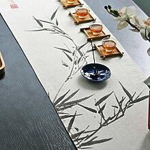 Tischläufer Moderne chinesischen tabelle flagge fashion and simplicity chinesische art esstisch läufer flag stoff bett-A 32x190cm(13x75inch)