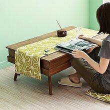 Tischläufer Moderne Einfach American Style Fluidsysteme LÄndlichen Teetisch Esstisch Langes Tv-schrank Tischdecke Isolierte Servietten-B 33x150cm(13x59inch)