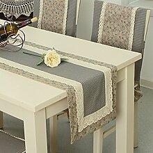 Tischläufer moderne einfach japanese style side tischtuch tv schrank streifen tischdecke european-style garden beistelltisch runner esstisch läufer-E 35x180cm(14x71inch)