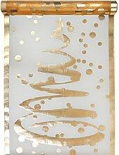 Tischläufer Organza transparent gold mit