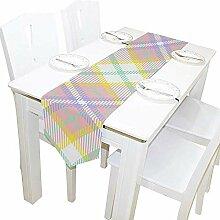 Tischläufer Ostern Farben Tartan Plaid Tischdecke