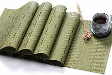 Tischläufer PVC Tischset Volltonfarbe Bambus Korn