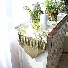 Tischläufer/quasten cabinet flag/bett-runner-A 33x200cm(13x79inch)