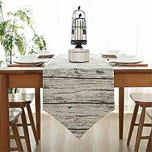 Tischläufer Retro Holzmaserung Kreative Desktop