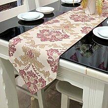Tischläufer/Simple,Mode,Europäisch,Luxuriös,Goldlinie,Auspicious Flower Table Flag/Bett-runner/Tee Tischläufer-A 30x200cm(12x79inch)
