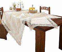 Tischläufer Spitze weiss Größe 40x100 cm