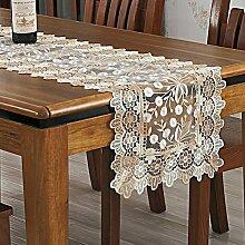 Tischläufer spitzen tischdecke tischläufer stickerei tischdecke tee tischdecke decken handtücher hohl schnaps kabinett handtuch tv schrank handtuch tischtuch-A 40x120cm(16x47inch)