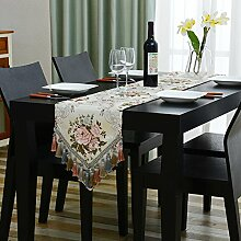 Tischläufer,tabelle dekoration tuch streifen tabelle flagge,europäischer haushalt green tv cabinet tischtuch,wohnzimmer tisch rechteckig dining side schrank-D 32x240cm(13x94inch)