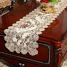 Tischläufer teetisch bett-runner stoffe europäisch spitze gehobenen sie luxus esstisch flag die tischdecke bett flagge tischdecke-B 35x240cm(14x94inch)