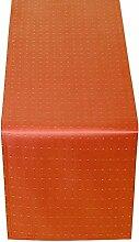 Tischläufer Tischband TISCHDECKE TISCHTUCH TISCHWÄSCHE Punkte , FARBE und GRÖßE wählbar (Eckig 40 X 170 cm - ORANGE)