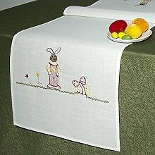 Tischläufer Tischdecke Hasen / 40x140