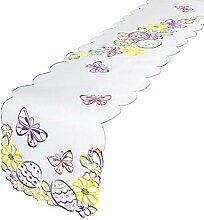 Tischläufer Tischdecke OSTERWIESE / 32x174
