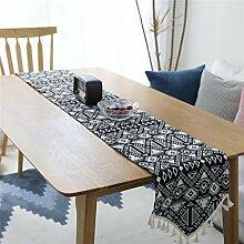 Tischläufer Tischfahne Geometrische Jacquard