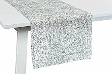 Tischläufer Veneto Farbe: Silber