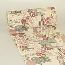 Tischläufer Vintage-Post-Card - 280mm - 15m -