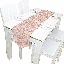 Tischläufer Wohnkultur, Vintage Pink Rose Floral
