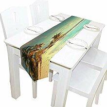 Tischläufer Wohnkultur, Vintage Tropical Ocean