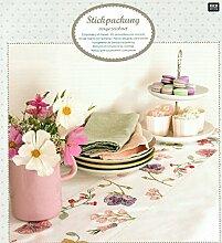 Tischläufer z.Aussticken - Komplettpackung - v.Rico NEU Design.67387.54.21- Fuchsien -