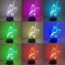 Tischlampe 3D Nachtlicht Bunte USB Fernbedienung