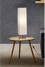 Tischlampe 60 cm eckig weiß, Plisseé Lampenschirm