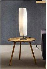 Tischlampe 60 cm rund weiß, Plisseé Lampenschirm