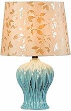 Tischlampe, American Garden Keramik Lampe Schlafzimmer Bedside Blaue Lampe, Hotel Restaurant Dekorative Lampe Schreibtischlampe