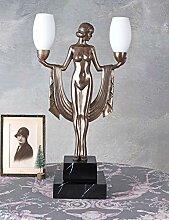 Tischlampe Art Deco Tischleuchte Frauenakt Bauhaus