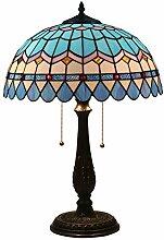Tischlampe aus farbigem Glas,Luxus Nachttischlampe