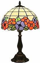 Tischlampe aus farbigem Glas,Nachttischlampe