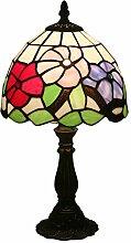 Tischlampe aus farbigem Glas,Tiffany Style