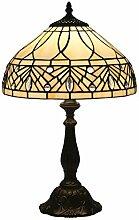Tischlampe aus farbigem Glas,Vintage Nachttisch