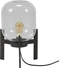Tischlampe aus Metall Antiksilber Finish und