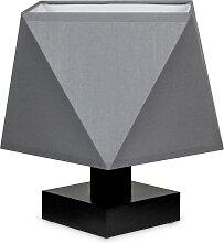 Tischlampe DIALN2GRD Nachttischleuchte Grau