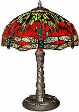 Tischlampe dragonfly glas im tiffany-stil handwerk