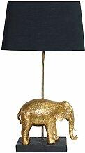 Tischlampe Elefant gold schwarz 63,5 cm hoch