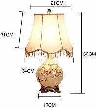 Tischlampe, Europäische Glastischlampe, Wohnzimmer-Dekoration-Lampe Schreibtischlampe ( farbe : Taste )
