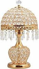 Tischlampe, Europäische Kristall Lampe, Wohnzimmer Schlafzimmer Nachttischlampe, Luxus Hotel Lampe Schreibtischlampe ( farbe : Gold )